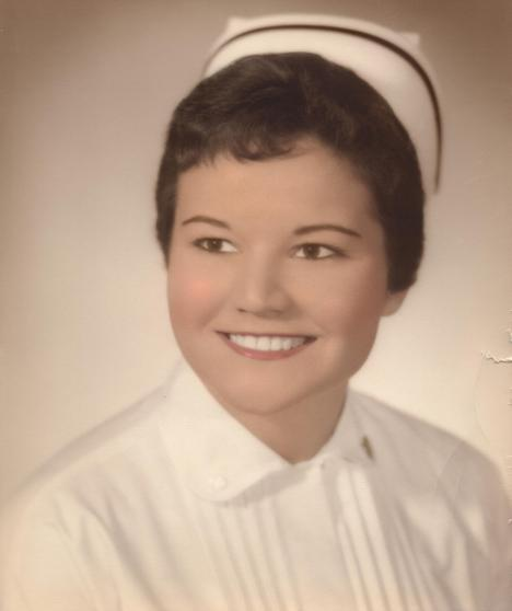 Barb as a graduate of Saint Anne's School of Nursing, circa 1959