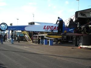 Unloading Fuel Dragster