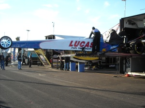 Unloading Fuel Dragster