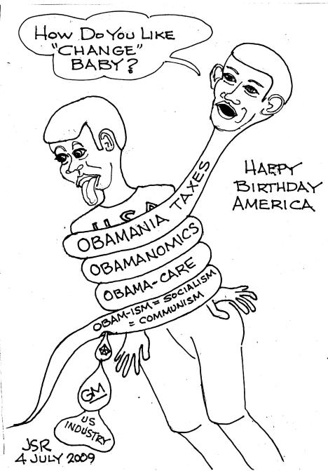 Pythonobama Squeezing America