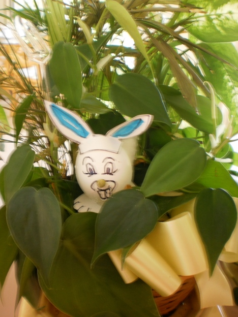 Easter Wabbit Munchin of Peggy's Plants