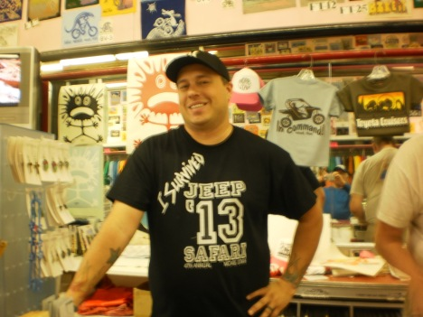 Scott, LSU graduate, Afghanistan Vet, Tee Shirt Salesman