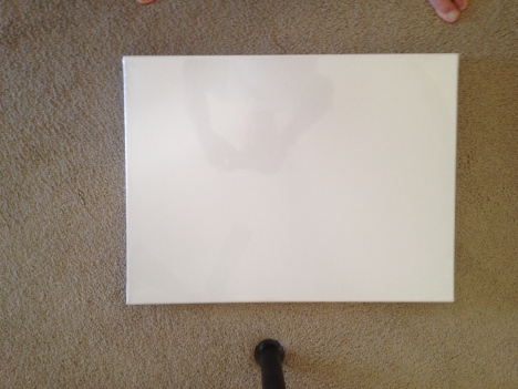 Blank 18 x 24 canvas from Michael's