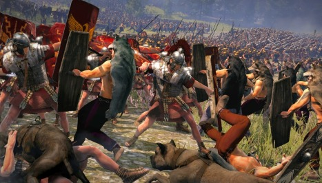 Roman fighting Gauls