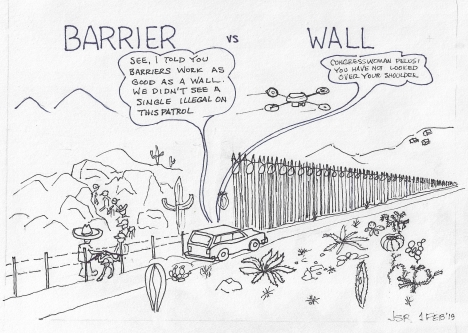 Barrier vs Wall